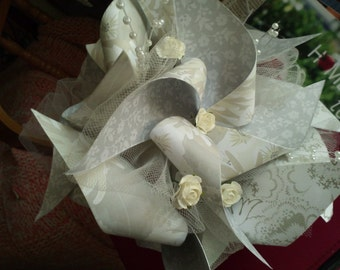 Pinwheel Bouquet With Six Eclectic Pinwheels for Toss, Bridesmaid, or Outdoor Wedding