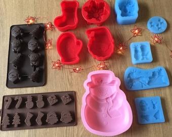 Christmas moulds bulk pack