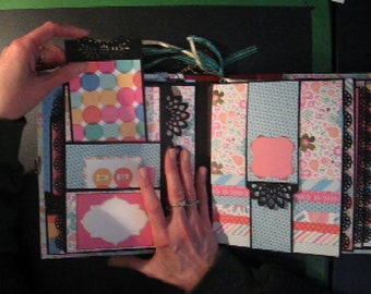 "TUTORIAL 7""x9"" Waterfall Scrapbook Mini Album (PDF Download PLUS links to videos) Photo Album"