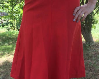 Custom Made 1970s Circle Skirt