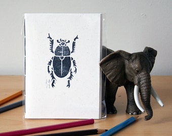Dung Beetle Notebook - Elephant Dung Paper Notebook - Cheeky Gift