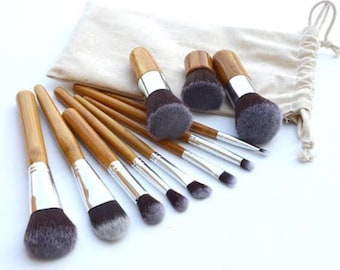Custom 10pc Makeup Brush Set | 10pc Makeup Brush Set | Monogrammed Makeup Brush Set | Gift Ideas | Bridesmaid Gift Ideas