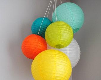 Customizable Mini Paper Lantern Balloon Mobiles