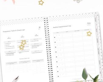 Printable Pregnancy & Baby Planner • Pregnancy journal • Mum to be gift • Baby Shower Planner • Baby Organizer