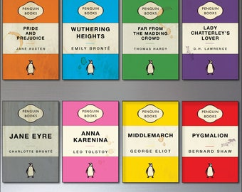 Penguin classics vintage book cover design fridge magnets set of 8