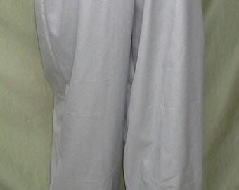"Pants Fighter Light Gray  L/XL  36""-42"" waist, 34"" inseam Steampunk Cosplay SCA LARP Renaissance #32"