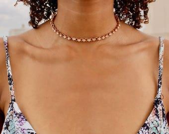 Rhinestone Choker - Diamond Choker - Crystal Choker Necklace - Statement Choker - Rhinestone Necklace - Dainty Jewelry - Gold Choker