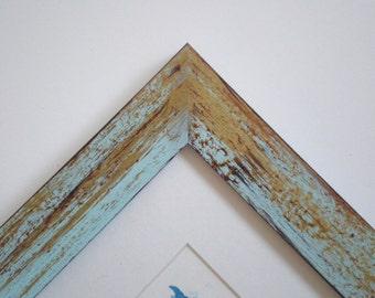 Black frame Picture frame photo frame 11x14 frame distressed frame Wood frame 28x36cm Woodworking RusticFrameShop