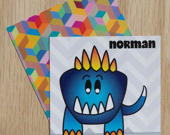 "Replacement Card ""Norman"" — Oh Those Monsters: Memory Game"
