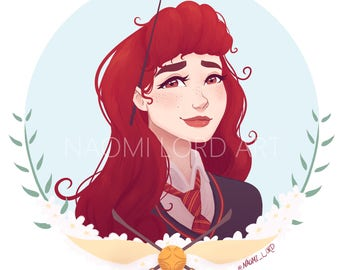 """Ginny Weasley Print and/or sticker (6x6"""" print or 8x8"""")"""