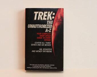 Star Trek book - Trek: Unauthorized A-Z