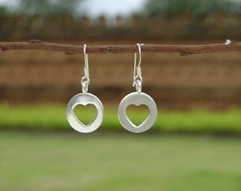 Silver Tribal Earrings - Through Your Heart