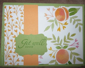 Set of two handmade Get Well Soon Cards; Stampin' Up! Get Well Card; card sets get well