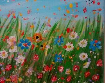 "Morning Original Acrylic Painting 10"" X 8"""