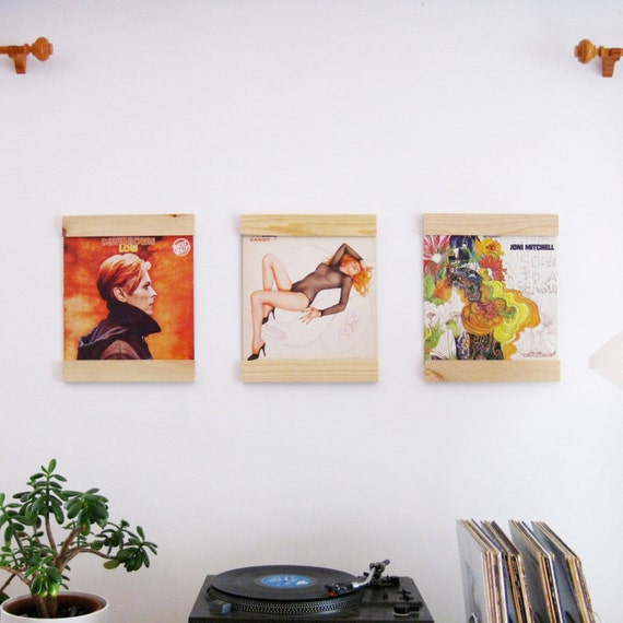 Set of three Record Frames LP Frames to turn your albums