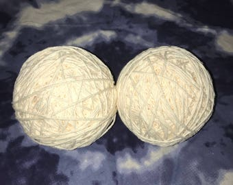 100% cotton yarn (for dyeing) -approx. 240 yards