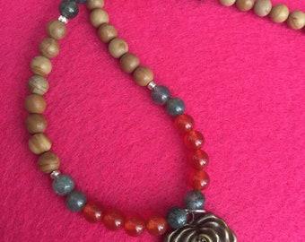Rustic Rose necklace
