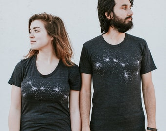 Couples Shirts Wedding Gift, Celestial Big Dipper Little Dipper Shirts, His and Hers Shirts, Funny Matching Shirts for Couples T-shirt Set