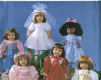 """Doll Dress Sewing Pattern -  18"""" Doll Party Dress Sewing Pattern - Doll Wedding Dress Sewing Pattern - Craft Pattern -  Simplicity 8534"""