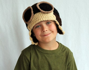 Aviator Pilot Hat - Kid or Adult Sizes - Accessories by Julian Bean
