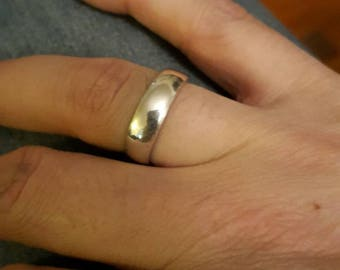 HEAVY Sterling silver size 8 ring/ band