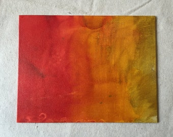 Fading Sunset - Canvas Panel Art with Alcohol Ink