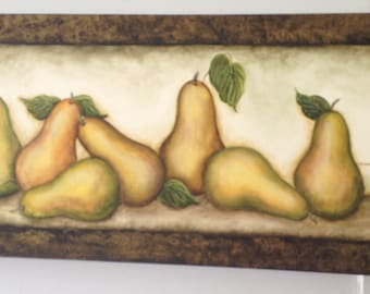 Acrylic Painting of Pears