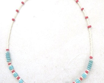 Necklace Necklace Southwestern Necklace Southwest Turquoise Necklace Native American Style Boho Aztec Tribal Gift