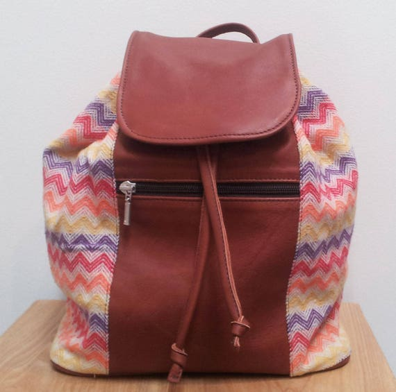 Womens Leather and Cotton Backpack for the Intrepid