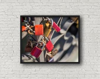 Liebe locken Print / Digital Download / Fine-Art Print / Kunst / Home Decor / Farbe Fotografie / Reisefotografie / Frankfurt am Main Deutschland