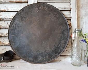 Large sturdy round baking tray Ø 47.5 cm ~ Magnetic wall ~ Memo board ~ Shabby Chic ~ Vintage decoration ~ hx4028ru2