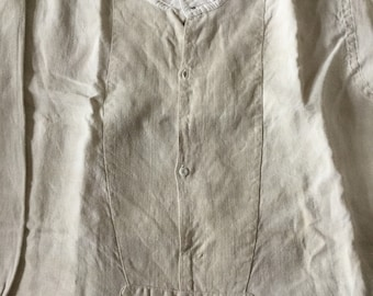 Antique French linen shirts