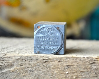 Purity Creamery The Better Kind Letterpress Printer's Blocks / Letterpress Stamp / Vintage Logo