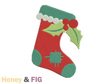 Christmas Stocking Embroidery Design-Stocking Embroidery-Christmas Embroidery Files