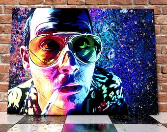 Johnny Depp Fear And Loathing In las Vegas Reptile Zoo Spray Painting Onto Canvas - Hunter S. Thompson - Stunning Painted Canvas