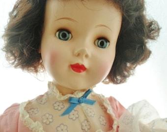 "Vintage 1950s American Character Sweet Sue Doll, 24"" Tall, Head Turning Walker, Original Clothes, Dark Brown Hair, Blue Sleep Eyes, Doll"