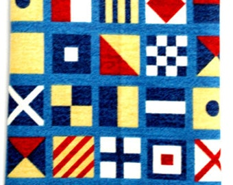 Nautical Dog Bandana, Code Flags