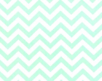 Premier Prints ZigZag Chevron in Mint Twill Home Decor fabric, 1 yard