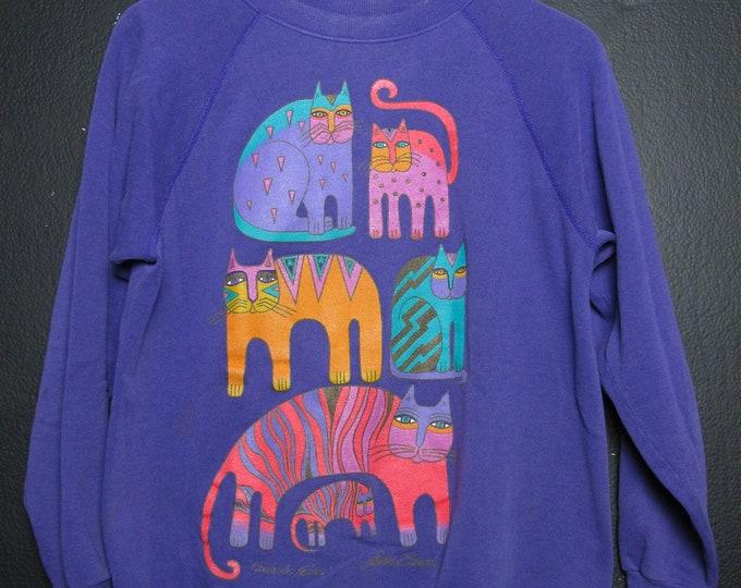 Laurel Burch Cats 1990's vintage Sweater