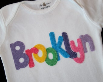 Personalized Name Onesie or T-Shirt For Babies & Toddlers