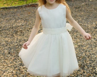Simplicity Ivory Flower Girl Dress