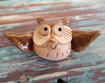 Little Guys Owl Ceramic Figurine
