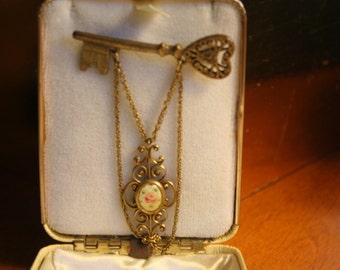 Victorian Key Brooch