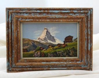 Framed Vintage Postcard - Matterhorn — Le Cervin