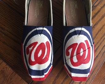 Baseball Painted Toms