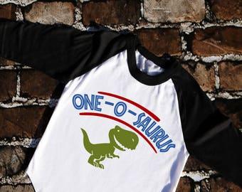 One-o-saurus Dinosaur birthday shirt