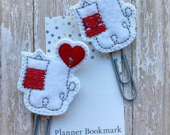 Iv Bag Feltie Planner Clip Nurse Paperclip Bookmark, Gift for Nurses, Planner Addict Paper Clip Book Lover, Medical Planner Bookmark