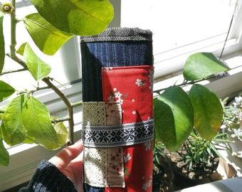 Handmade Travel Makeup Brushes Roll Up Bag