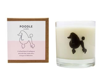 Poodle Soy Candle Soy Candle Hostess Gift Poodle Dog Candle Poodle Rescue Candle Poodle Lover Gift The Original Scripted Fragrance Candle