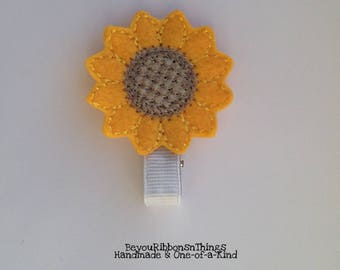 SUNFLOWER, Felties, Flowers, Hair Barrette, Hair Clip, Baby Hair Clips, Toddler Barrettes, Accessories, Hair Accessories, Kids, Gift Idea